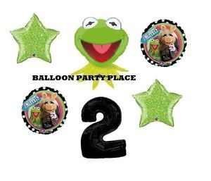 Kermit The Frog Muppets Piggy Balloons Party Supplies Second 2nd Birthday