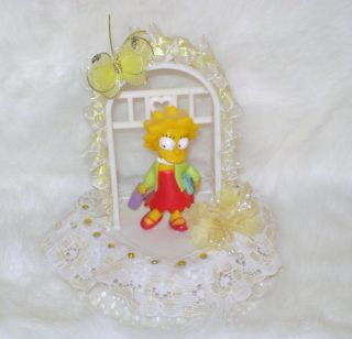 Lisa Simpson Birthday Cake Topper or Decoration Childs Party The Simpsons OOAK