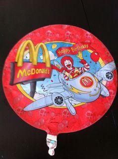 McDonald's Hamburger Gang Ronald McDonald's Birthday Foil Mylar Balloons 10 Ct