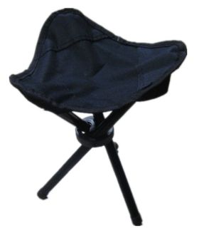 Portable 3 Legs Folding Chair Outdoors Camping Hunting Fishing Stool Seat Black