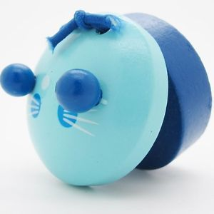 3D Musical Music Blue Cat Wooden Castanets Beetle Kids Baby Kid Play Toys