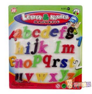 26 Alphabet Letter Number Sign Fridge Magnet Baby Kid Educational Toy
