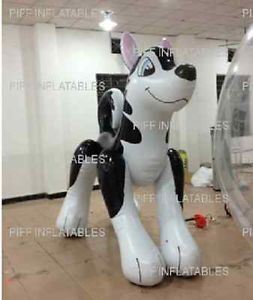 Inflatable Siberian Husky Dog Cartoon Pool Toy Blow Up Huge 7 Feet Tall