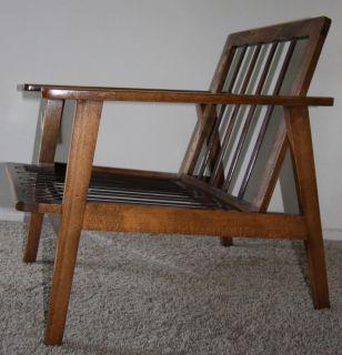Vtg Mid Century Danish Modern Larsen Selig Style Walnut Lounge Chair