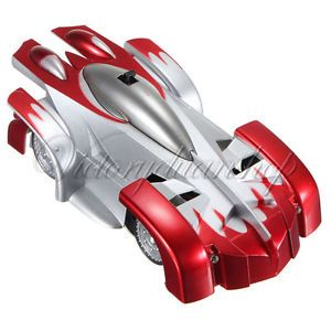 Mini RC Remote Control Wall Floor Climbing Car Racer Racing Car Toy Kids Red