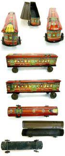 Prewar Antique Japanese Locomotive Train Child Tin Toy