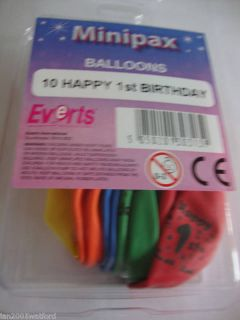 2 Packs of 10 Air Fill Birthday Balloons Ages 1 17 Free Post and Packing