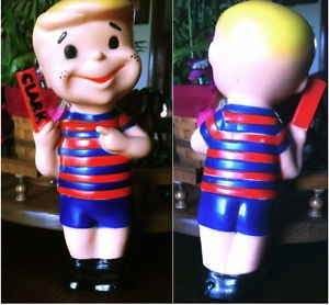 Vintage Candy 1960's Clark Bar Kid Boy Vinyl Rubber Promo Doll Figure Toy Nice