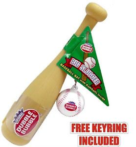 Baseball Key Chain Souvenir Kids Gumball Filled Baseball Bat Toy