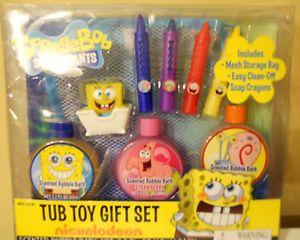 Nickelodeon Spongebob Squarepants Tub Toy Gift Set Kids Bath Toy Ages 3 NIP