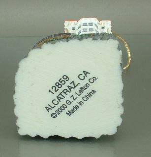 G Z Lefton Alcatraz Prison Hanging Christmas Ornament Dated 2000