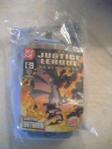 Justice League Burger King Batman Figurine w Mini Comic Book Kids Meal Toy