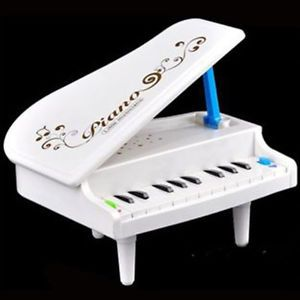 New Lovely Baby Kid Children 11 Keys White Mini Piano Music Play Instrument Toy
