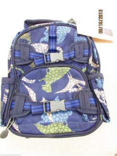Pottery Barn Kids Mackenzie Preschool Pre K Dinosaur Mini Backpack Navy