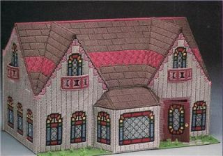 Lot of Two Plastic Canvas Booklets Victorian Doll House N Furniture New Pattern