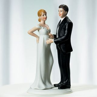 Expecting Bride Groom Wedding Cake Top Topper Couple Pregnant Baby Bundle