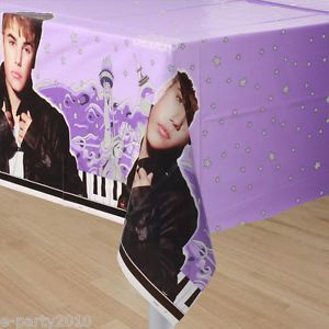 New Justin Bieber Plastic Table Cover Birthday Party Supplies