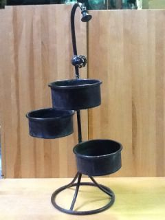 Antique Metal Copper Look 31 5 in Old Fashioned Large Faucet 3 Tier Plant Stand