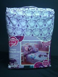 My Little Pony Canterlot 4 PC Toddler Bedding Set Quilt Sheets Pillowcase New