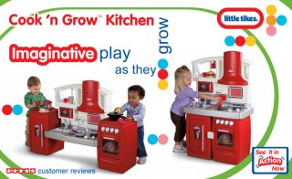 New Kitchen Set Pretend Play Little Tikes Cook N Grow Childrens Kids