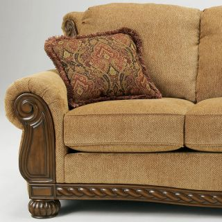 ... Birmingham European Traditional Wood Trim Fabric Sofa Couch Set Living  Room ...