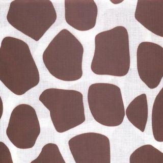Sultan's Linens Fabric Tablecloth 52 x 52 Sqaure Giraffe Print New