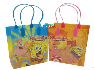 Spongebob Squarepants Pack of 12 Candy Bag Gift Treat Sacks Favor Party Loot