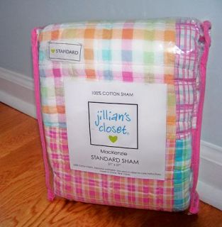 Jillian's Closet Mackenzie Standard Pillow Sham Plaid