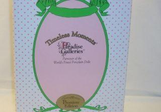 Paradise Galleries Premier Edition Talking Sound Courtney Porcelain Doll
