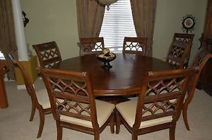 drexel heritage dining set round dining room table 10 chairs and china