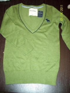New Girls Abercrombie Kids Green Sweater Size L