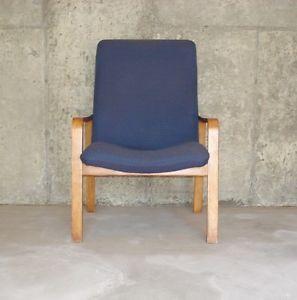 Mid Century Bentwood Lounge Chair Thonet Alvar Aalto Danish Modern Style
