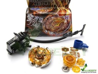 Rapidity 4D System Metal Fusion Beyblade Super RARE TH170WD Launcher Set