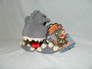"Toy Vault 7"" Plush Superdeformed Godzilla Plush Toy 2006 New w Tag Stuffed"