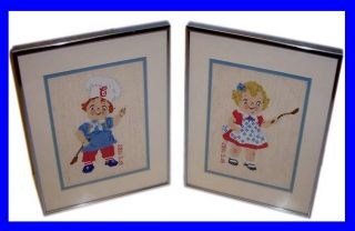 Campbells Soup Kids Cross Stitched Pictures Set Food