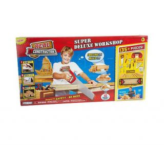 135 Piece Deluxe Tool Foam Wood Construction Set with Tool Belt