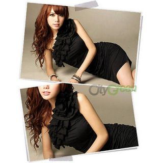 Sexy Women's One Shoulder Dress Girl's Cocktail Party Club Dresses 2 Colors