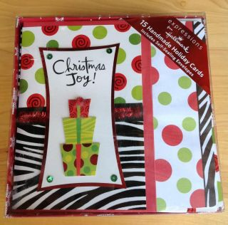 Expressions by Hallmark Handmade Holiday Christmas Cards Envelopes 15