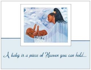 20 African American Baby Boy Shower Invitations with Angel God Cards Post Cards