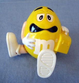 Burger King Yellow M M M M Toy Figurine Kids Club Meal Worried Expression