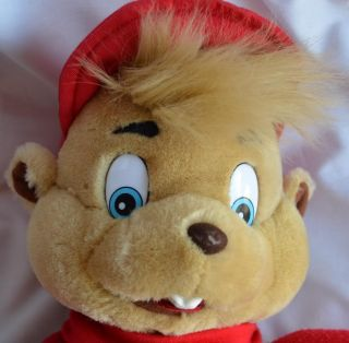 "Alvin Chipmunks Alvin Vintage 1993 Big 16"" Plush Stuffed Puppet Toy"