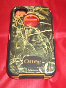 iPhone 4 4S Otterbox Defender Series Case w Holster Clip Realtree Camo