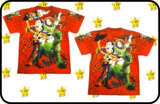 Disney Toy Story Boys Kids Clothes Top Tshirt Cartoon Characters Buzz Lightyear