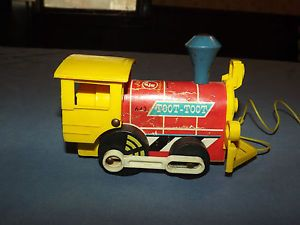 Vintage Baby Child Kid Old 1964 Fisher Price Toys Pull Toy TOOT TOOT Train