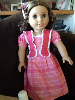 American Girl Marie Grace Doll Adult Owned Displayed Only Chair Incl