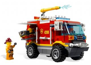 Lego City Forest Fire Truck 4 x 4 Kids Playset 4208