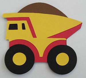 Dump Truck Cricut Die Cuts Kids Tonka Toys B Is for Boys Scrapbooking