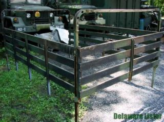 Military Truck Cargo Trailer M105 Bed Rack Assembly and Two Bows