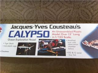 Revell Jacques Yves Cousteau's Calypso Ocean Vessel Model Kit 1 125 New SEALED