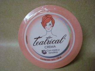 Theatre Makeup Cream Remover Moisturize Crema Teatrical Rosas Y Lanolina 130g